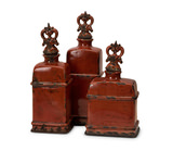 Garnet Bottles-Set of 3