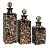 Moulin Mosaic Bottles S/3