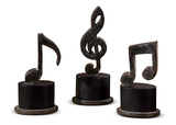 S/3 Music Note Sculptures