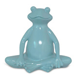 Lotus Yoga Frog Ceramic Figurine