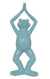Extended Mountain Yoga Frog Ceramic Figurine