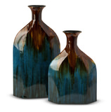 Blaze Blue Bottles Set of 2