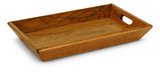 Rectangular Wooden Ottoman Tray