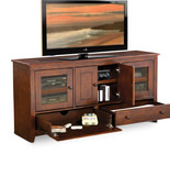 Chocolate Tall media console