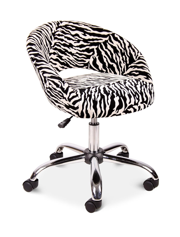 Pink Zebra Desk Chair