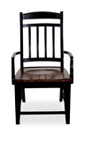 Riverside Slat back arm chair