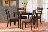 Sparkle Dining Table with 4 Side Chairs