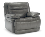 Rally Leather Power Glider Recliner