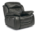 Como Leather Power Glider Recliner