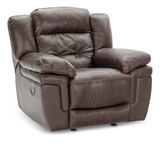 Hallmark Leather Glider Recliner