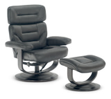 Cory Leather Swivel Recliner And Ottoman