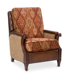 Manor Hill Fabric/Leather Recliner by Bradington Young