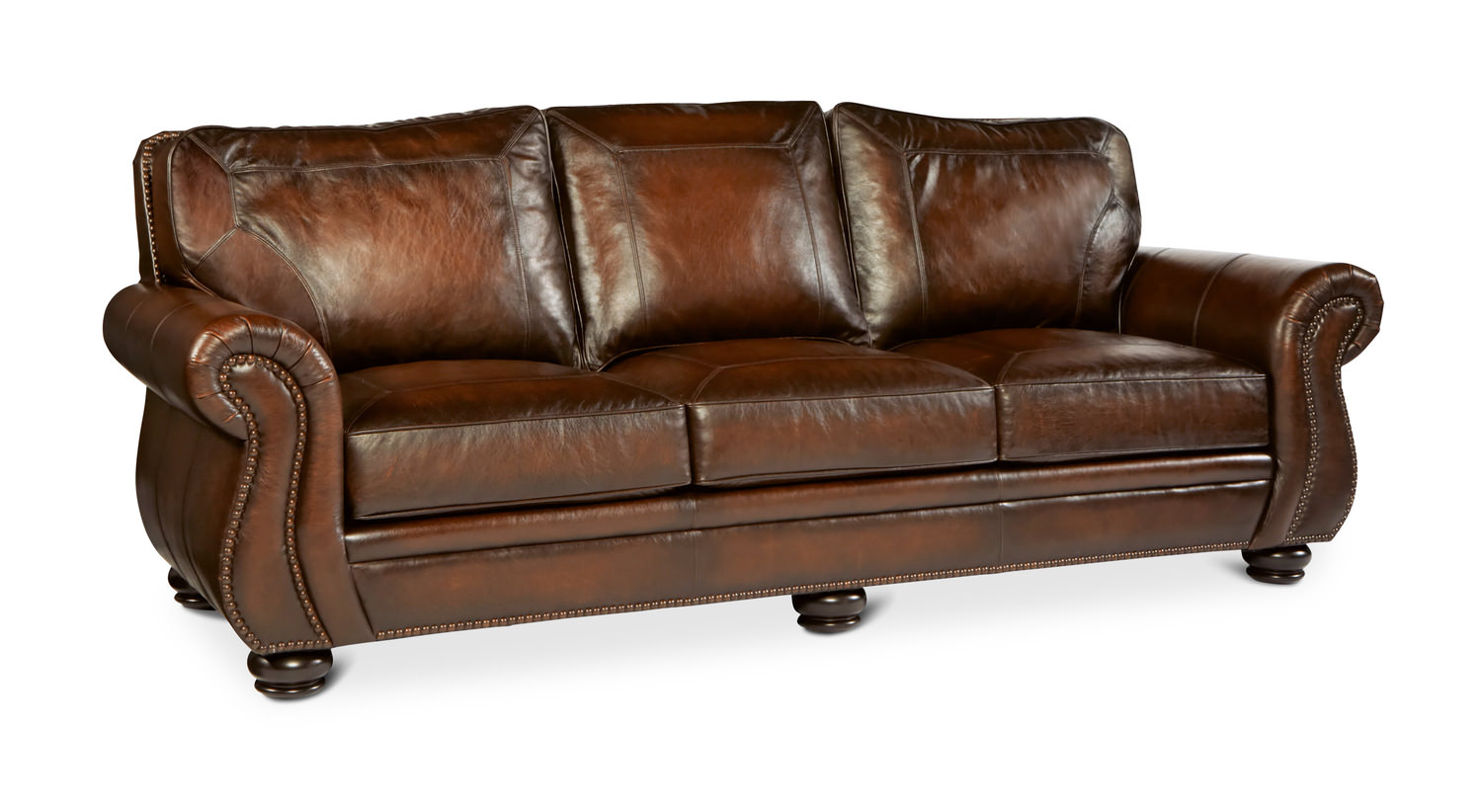 Breckenridge Leather Sofa by Bernhardt Images - Frompo