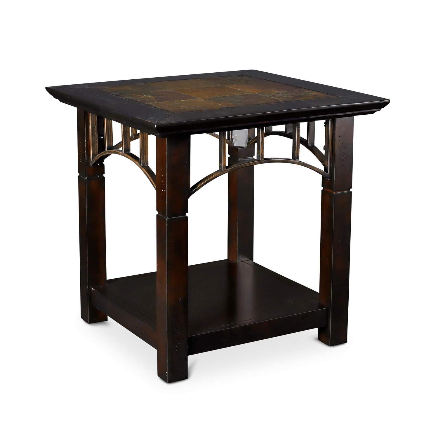 Montego Contemporary Merlot Wood Square End Table W Drawer: 301 Moved Permanently