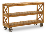 Khatri Bookcase/TV Stand on wheels