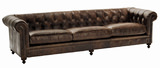 "London Club 117"" Leather Sofa"