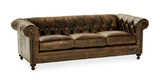 "London Club 92"" Leather Sofa"