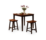 Acacia table with 2 stools.