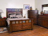 Sante Fe King Panel Bed with Storage Footboard