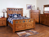 Sedona Queen Panel Bed with Storage Footboard