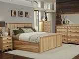 Adamstown Hickory Queen Panel Storage Bed