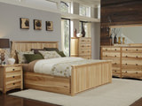 Adamstown Hickory King Panel Storage Bed