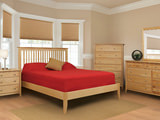 Stratford Queen Slat Bed with Low Profile Footboard