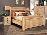 Hickory Highlands Queen Arch Bed without Storage Drawers
