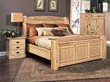 Hickory Highlands King Arch Bed without Storage Drawers