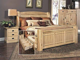 Hickory Highlands King Arch Bed with Storage Drawers