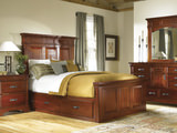 Kalispell Queen Mantel Bed with Under Bed Storage
