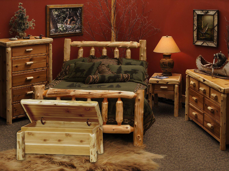 Hom Furniture Rugs Cedar Log Queen Bedroom Suite   HOM Furniture