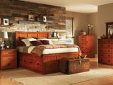 American Mission II Queen Pedestal Bed Bedroom Suite