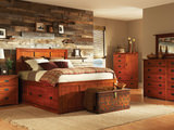 American Mission II King Pedestal Bed Bedroom Suite