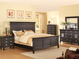 Summer Breeze Black King Panel Bedroom Suite