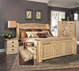 Hickory Highlands Queen Bedroom Suite with Under Bed Storage Drawers