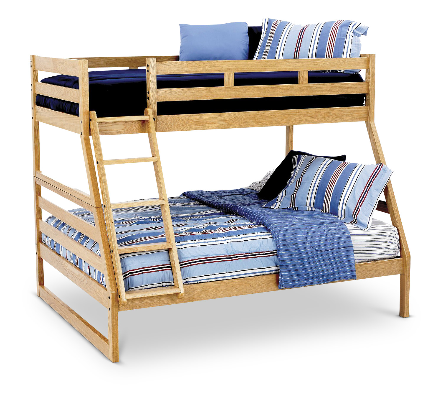 Casual Oak Twin Over Full Bunk