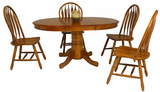 "Classic Formica Laminate 42"" round table and 4 monarch side chairs"