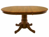 "Classic North American Red Oak 42"" round table"