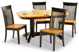 Split Rock Amish Oak Table with 4 Carlisle Side Chairs