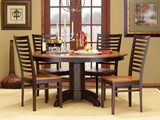 Amish Craftsmen Tuscany Round dining and side chairs