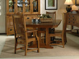 Mission Pointe Trestle Table with 4 Wooden Side Chairs