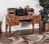 Sedona Laptop Desk with Hutch