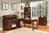 Avenue office with desk, credenza and hutch