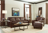 Cuban Leather Sofa and Chair Set