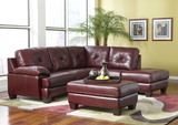Adams 2-Piece Leather Modular Sectional with Free Cocktail Ottoman