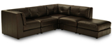 Destry 5 Piece Leather Modular Group