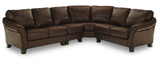 Wagner 4 Piece Leather Sectional