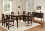 Zella Crackle Glass Table and 4 Counterstools