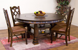 Santa Fe Round adjustable height table with 4 side chairs
